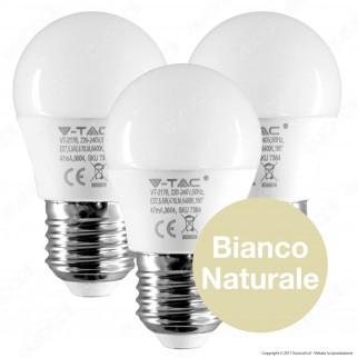 V-Tac VT-2176 Super Saver Pack Confezione 3 Lampadine LED E27 5,5W MiniGlobo G45 - SKU 7363 / 7364 ⭐️PROMO 3X2⭐️