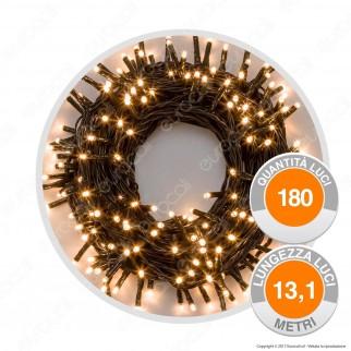 Catena 180 Luci LED Reflex Bianco Freddo con Controller Memory - per Interno e Esterno