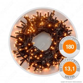 Catena 180 Luci LED Reflex Bianco Caldo con Controller Memory - per Interno e Esterno