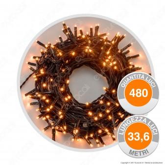 Catena 480 Luci LED Reflex Bianco Caldo - per Interno e Esterno