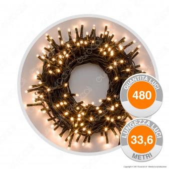 Catena 480 Luci LED Reflex Bianco Naturale - per Interno e Esterno