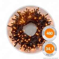 Catena 480 Luci LED Reflex Bianco Caldo con Controller Memory - per Interno e Esterno