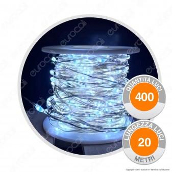 Catena Anima in Metallo con 400 Microluci LED Bianco Freddo - per Interno