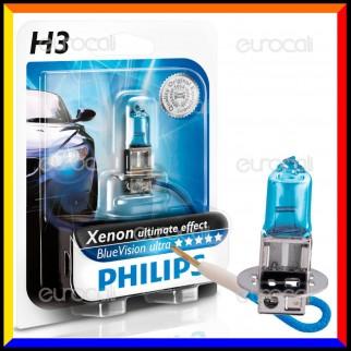 Philips Blue Vision Ultra Effetto Xenon - 1 Lampadina H3