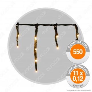 Mini Stalattiti Luminose 550 Luci LED Reflex Bianco Caldo - per Interno e Esterno