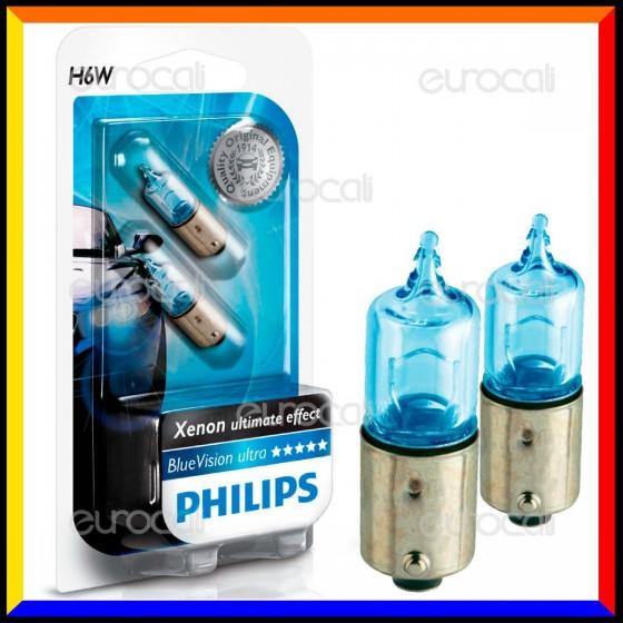 Philips Blue Vision Ultra Effetto Xenon - 2 Lampadine H6W