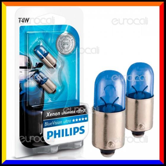 Philips Blue Vision Ultra Effetto Xenon - 2 Lampadine T4W