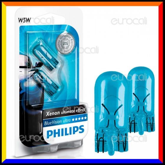 Philips Blue Vision Ultra Effetto Xenon - 2 Lampadine W5W