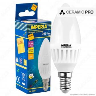 Imperia Ceramic Pro Lampadina LED E14 9W Candela