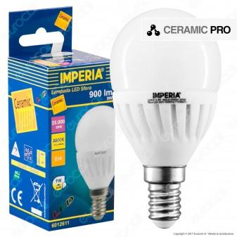 Imperia Ceramic Pro Lampadina LED E14 9W MiniGlobo P45