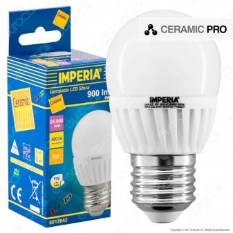 Imperia Ceramic Pro Lampadina LED E27 9W MiniGlobo G45
