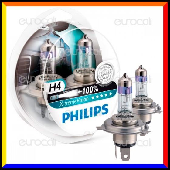 Philips X-Treme Vision Alta Visibilità - 2 Lampadine H4