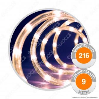 Tubo Luminoso 216 Luci LED Reflex Bianco Caldo con Controller Memory - per Interno e Esterno