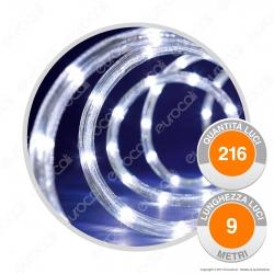 Tubo Luminoso 216 Luci LED Reflex Bianco Freddo con Controller Memory - per Interno e Esterno