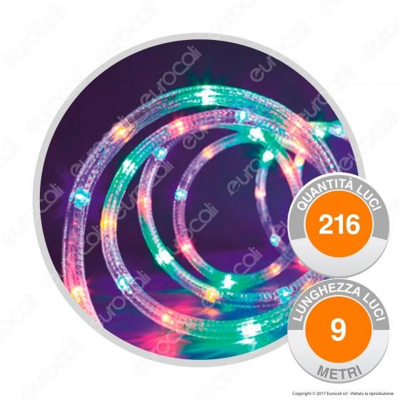 Tubo Luminoso 216 Luci LED Reflex Multicolor con Controller Memory - per Interno e Esterno