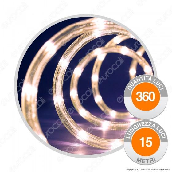 Tubo Luminoso 360 Luci LED Reflex Bianco Caldo con Controller Memory - per Interno e Esterno