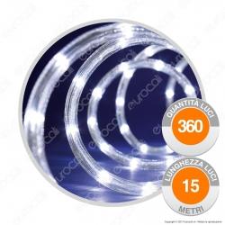 Tubo Luminoso 360 Luci LED Reflex Bianco Freddo con Controller Memory - per Interno e Esterno