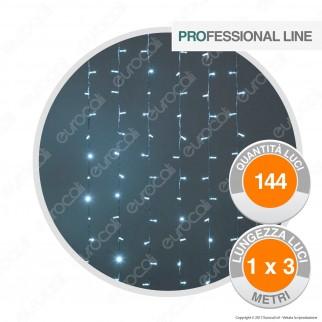Tenda Luminosa Professional Line 144 MaxiLuci LED Bianco Freddo Prolungabile - per Interno e Esterno