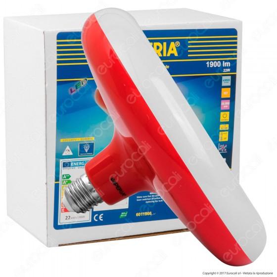 Imperia Lampadina LED E27 22W Ufo - Rosso