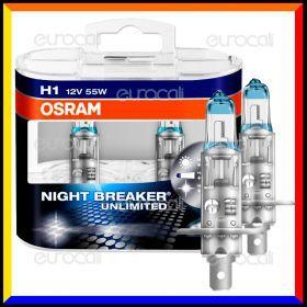 Osram Night Breaker Unlimited Alta Visibilità - 2 Lampadine H1