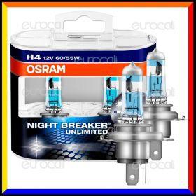 Osram Night Breaker Unlimited Alta Visibilità - 2 Lampadine H4