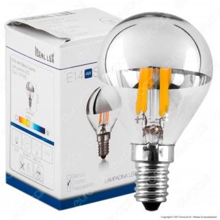 Ideal Lux Lampadina LED E14 4W MiniGlobo P45 Filamento Calotta Cromata