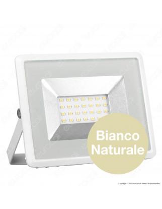 V-Tac VT-4021 E-Series Faro LED SMD 20W Ultra Sottile da Esterno Colore Bianco - SKU 5950 / 5951