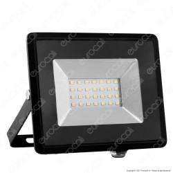 V-Tac VT-4021 E-Series Faro LED SMD 20W Ultra Sottile da Esterno Colore Nero - SKU 5947