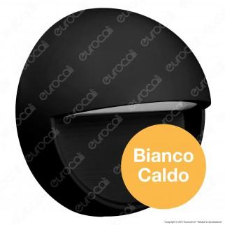 V-Tac VT-1182 Faretto Segnapasso LED a Montaggio Superficiale Rotondo 3W per Esterno Nero - SKU 1404 / 1405