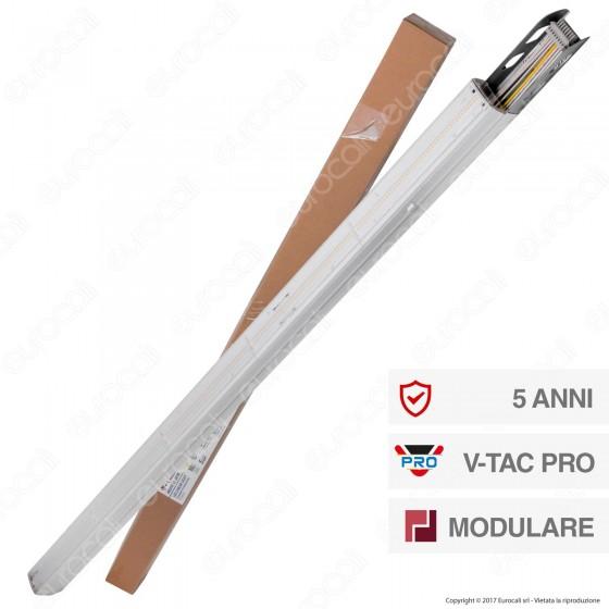 V-Tac PRO VT-4550D Linear Following Trunking Track Light Lineare 50W Fascio Asimmetrico Dimmerabile - SKU 1365