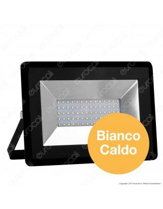 V-Tac VT-4051 E-Series Faro LED SMD 50W Ultra Sottile da Esterno Colore Nero - SKU 5958 / 5959 / 5960