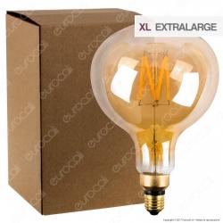 Ideal Lux Lampadina LED Vintage XL E27 4W Globo Small Filamento Ambrata - mod. 129877
