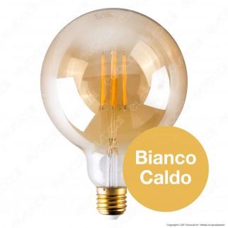 Ideal Lux Lampadina LED Vintage E27 4W Globo Big Filamento Ambrata Dimmerbile