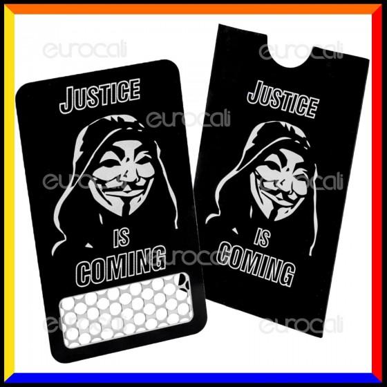 Grinder Card Formato Tessera Tritatabacco in Metallo - Anonymous [TERMINATO]