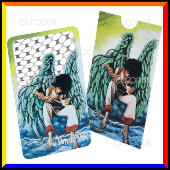 Grinder Card Formato Tessera Tritatabacco in Metallo - Jimi Hendrix Shreds of Heaven