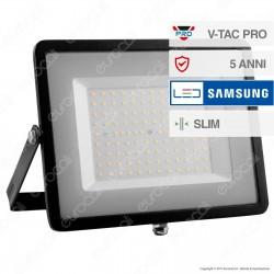 V-Tac PRO VT-100 Faro LED SMD 100W Ultrasottile Chip Samsung da Esterno Colore Nero - SKU 413