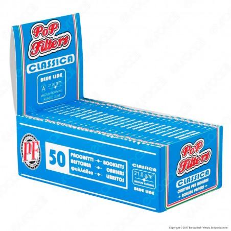 Cartine Pop Filters Corte Italia Blue Line - Scatola da 50 Libretti