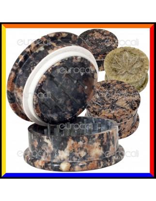 Grinder Tritatabacco Black Leaf 2 Parti in Pietra