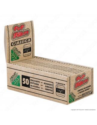 Cartine Pop Filters Corte Organic Hemp - Scatola da 50 Libretti