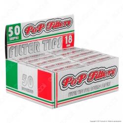 Pop FIlters Filtri Slim In Carta - Scatola da 50 Blocchetti