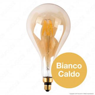 Ideal Lux Lampadina LED Vintage XL E27 8W Bulb Filamento Ambrata
