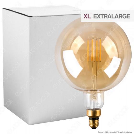Ideal Lux Lampadina LED Vintage E27 4W Globo Big Filamento Ambrata