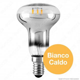 Ideal Lux Lampadina LED E14 4W Bulb Reflector Filamento Calotta Cromata