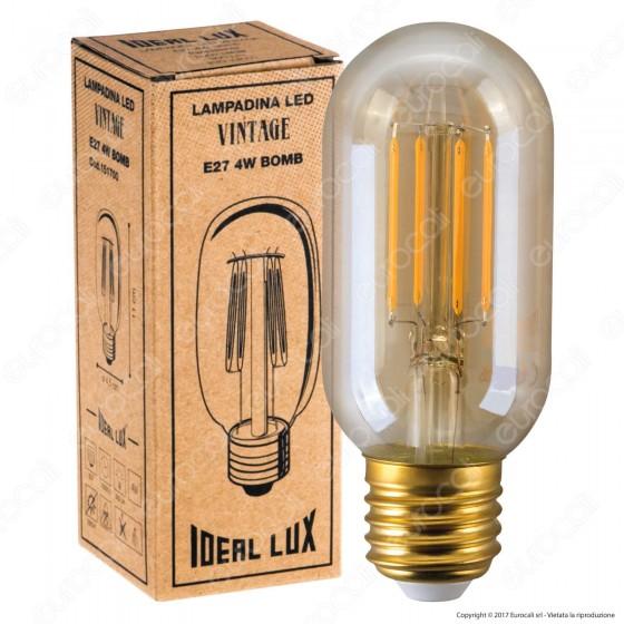 Ideal Lux Lampadina LED Vintage E27 4W Bomb Filamento Ambrata