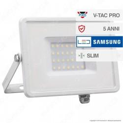 V-Tac PRO VT-30 Faro LED SMD 30W Ultrasottile Chip Samsung da Esterno Colore Nero - SKU 400