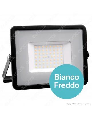 V-Tac PRO VT-50 Faro LED SMD 50W Ultrasottile Chip Samsung da Esterno Colore Nero - SKU 406 / 407 / 408