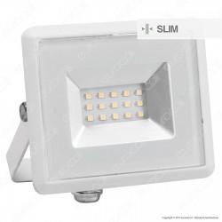 V-Tac VT-4011 E-Series Faro LED SMD 10W Ultra Sottile da Esterno Colore Bianco - SKU 5943 / 5944 / 5945