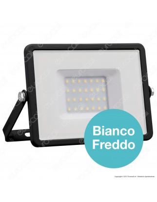 V-Tac PRO VT-30 Faro LED SMD 30W Ultrasottile Chip Samsung da Esterno Colore Nero - SKU 400 / 402