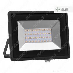 V-Tac VT-4031 E-Series Faro LED SMD 30W Ultra Sottile da Esterno Colore Nero - SKU 5952 / 5953 / 5954