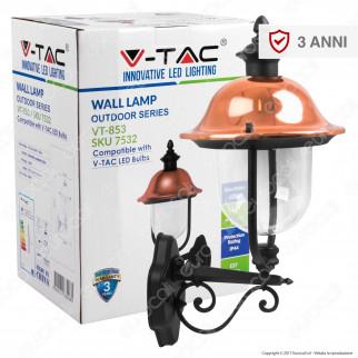 V-Tac VT-852 Portalampada da Giardino Wall Light da Muro per Lampadine E27 - SKU 7532